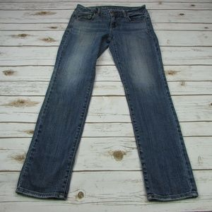 Skinny Stretch Jeans Lightly Distressed 4 Short